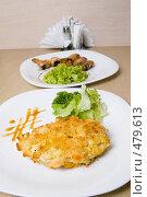 Купить «Мясо в панировке с зеленью», фото № 479613, снято 25 сентября 2008 г. (c) паша семенов / Фотобанк Лори