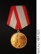 """Юбилейная медаль """"60 лет вооруженных сил СССР"""" (2008 год). Редакционное фото, фотограф Владимир Борисов / Фотобанк Лори"""