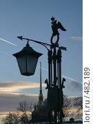 Купить «Фонарь моста Петропавловской крепости. Санкт-Петербург», фото № 482189, снято 8 января 2006 г. (c) Александр Секретарев / Фотобанк Лори