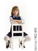 Купить «Ученица сидит верхом на стуле», фото № 482465, снято 25 сентября 2008 г. (c) Лисовская Наталья / Фотобанк Лори