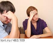 Купить «Конфликт между супругами», фото № 483109, снято 28 сентября 2007 г. (c) Гладских Татьяна / Фотобанк Лори