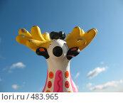 Купить «Олень-золотые рога. Дымковская игрушка», фото № 483965, снято 27 сентября 2008 г. (c) Заноза-Ру / Фотобанк Лори