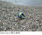 Мячик на берегу моря. Стоковое фото, фотограф Elena Monakhova / Фотобанк Лори