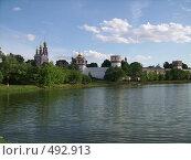 Купить «Новодевичий монастырь. Взгляд с дальнего берега», фото № 492913, снято 16 июня 2007 г. (c) Александр Тёмин / Фотобанк Лори