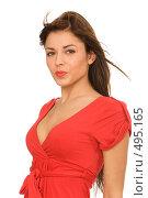 Купить «Симпатичная девушка», фото № 495165, снято 20 сентября 2008 г. (c) Валентин Мосичев / Фотобанк Лори