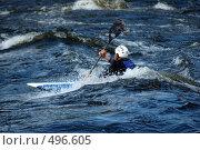 Купить «Каяк в пороге на бурной реке», фото № 496605, снято 28 июня 2008 г. (c) Комаров Константин / Фотобанк Лори
