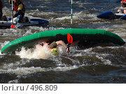 Купить «Надувной каяк в пороге на бурной реке», фото № 496809, снято 28 июня 2008 г. (c) Комаров Константин / Фотобанк Лори