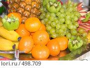 Купить «Фруктовый красочный фон», фото № 498709, снято 4 октября 2008 г. (c) Федор Королевский / Фотобанк Лори