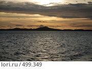 Закат над морем. Стоковое фото, фотограф Сергей Анисимов / Фотобанк Лори