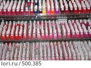 Купить «Лаки для ногтей», фото № 500385, снято 18 сентября 2008 г. (c) Ольга Лерх Olga Lerkh / Фотобанк Лори