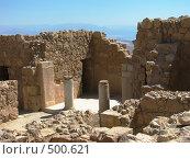 Вид с  легендарной крепости Масада на мёртвое море (2008 год). Стоковое фото, фотограф Azaria Iounaev / Фотобанк Лори