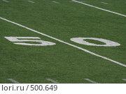 Купить «Разметка поля для американского футбола», фото № 500649, снято 21 сентября 2008 г. (c) Наталья Герасимова / Фотобанк Лори