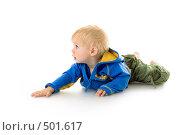 Купить «Годовалый малыш ползает», фото № 501617, снято 8 октября 2008 г. (c) Лисовская Наталья / Фотобанк Лори