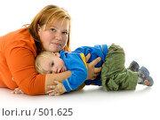 Купить «Годовалый малыш с мамой», фото № 501625, снято 8 октября 2008 г. (c) Лисовская Наталья / Фотобанк Лори