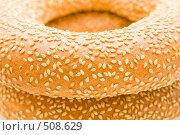 Купить «Бублики с кунжутом, фон», фото № 508629, снято 26 сентября 2008 г. (c) Ольга Красавина / Фотобанк Лори