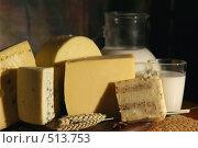 Купить «Натюрморт деревенский с различными сырами и молоком», фото № 513753, снято 11 декабря 2005 г. (c) Татьяна Белова / Фотобанк Лори