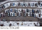 Купить «Первый снег в городе. Вид сверху.», фото № 514249, снято 2 марта 2008 г. (c) Горшков Игорь / Фотобанк Лори