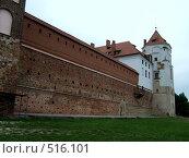 Купить «Стена и одна из башен Мирского замка. Беларусь», фото № 516101, снято 12 августа 2006 г. (c) Римма Радшун / Фотобанк Лори