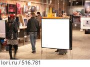 Купить «Выставка. Пустая рамка», фото № 516781, снято 23 марта 2019 г. (c) Losevsky Pavel / Фотобанк Лори