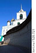 Купить «Псков. Стена Кремля и Троицкий собор», фото № 520721, снято 5 апреля 2008 г. (c) АЛЕКСАНДР МИХЕИЧЕВ / Фотобанк Лори