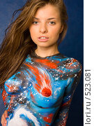 Боди-арт. Вселенная (2008 год). Редакционное фото, фотограф Вячеслав Дусалеев / Фотобанк Лори