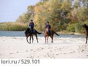 Купить «Донские казаки скачут верхом на конях», фото № 529101, снято 12 октября 2008 г. (c) Виктор Филиппович Погонцев / Фотобанк Лори