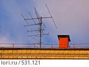 Купить «Телевизионная антенна», фото № 531121, снято 15 октября 2008 г. (c) Эдуард Межерицкий / Фотобанк Лори