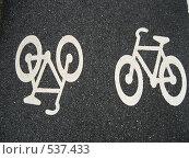 Знак велосипедной дорожки. Стоковое фото, фотограф Игорь Михновец / Фотобанк Лори