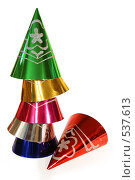 Купить «Новогодние разноцветные колпачки», фото № 537613, снято 28 октября 2008 г. (c) Логинова Елена / Фотобанк Лори
