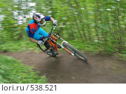 Велосипедист на вираже (2007 год). Редакционное фото, фотограф Сергей Юрченко / Фотобанк Лори