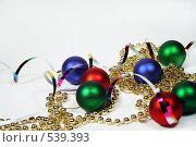 Купить «Новогодние украшения», фото № 539393, снято 29 октября 2008 г. (c) Логинова Елена / Фотобанк Лори