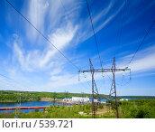 Купить «ГЭС и линии электропередач», фото № 539721, снято 1 июня 2008 г. (c) podfoto / Фотобанк Лори