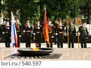 Военная присяга. Знаменная группа (2008 год). Редакционное фото, фотограф Шахов Андрей / Фотобанк Лори