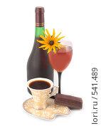Вино и кофе. Стоковое фото, фотограф Коннов Леонид Петрович / Фотобанк Лори