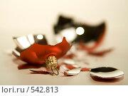 Осколки стеклянного новогоднего шарика. Стоковое фото, фотограф Наталья Чуб / Фотобанк Лори