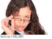 Купить «Портрет женщины в очках», фото № 542881, снято 17 октября 2018 г. (c) Losevsky Pavel / Фотобанк Лори