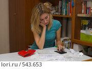 Купить «Ведение семейного бюджета», фото № 543653, снято 4 ноября 2008 г. (c) Артем Ефимов / Фотобанк Лори