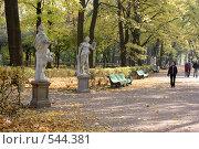 Купить «Летний сад осенью», фото № 544381, снято 9 октября 2008 г. (c) Андрюхина Анастасия / Фотобанк Лори
