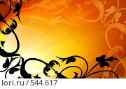 Купить «Золотая цветочная рамка», иллюстрация № 544617 (c) ElenArt / Фотобанк Лори
