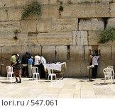 Купить «Стена Плача. Иерусалим», фото № 547061, снято 26 сентября 2007 г. (c) Юлия Селезнева / Фотобанк Лори