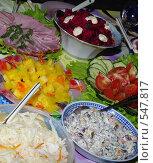 Купить «Праздничный стол», фото № 547817, снято 7 ноября 2008 г. (c) Мишурова Виктория / Фотобанк Лори