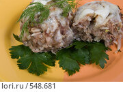 Купить «Голубцы ленивые с зеленью», фото № 548681, снято 5 ноября 2008 г. (c) Надежда Келембет / Фотобанк Лори