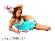 Студийная фотосъемка молодой девушки. Стоковое фото, фотограф Павел Власов / Фотобанк Лори