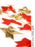 Купить «Новогодние украшения банты», фото № 550205, снято 3 ноября 2008 г. (c) Логинова Елена / Фотобанк Лори