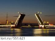 Купить «Санкт-Петербург. Дворцовый мост в белые ночи», фото № 551621, снято 17 июля 2007 г. (c) Инга Лексина / Фотобанк Лори