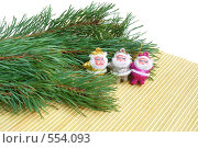 Купить «Три Санты», фото № 554093, снято 6 ноября 2008 г. (c) Наталия Евмененко / Фотобанк Лори