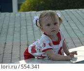 Купить «Маленькая девочка смотрит вдаль», фото № 554341, снято 7 сентября 2008 г. (c) Огульчанский Александер / Фотобанк Лори