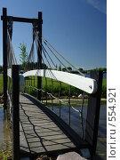 Деревянный мост через ручей. Стоковое фото, фотограф Алексей Семенов / Фотобанк Лори