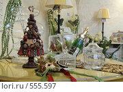 Купить «Модные новогодние аксессуары, подарки, игрушки», фото № 555597, снято 11 ноября 2008 г. (c) Александр Черемнов / Фотобанк Лори