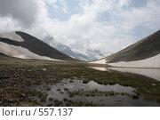 Купить «Озеро на перевале, Западный Кавказ», фото № 557137, снято 3 августа 2008 г. (c) Vladimir Fedoroff / Фотобанк Лори